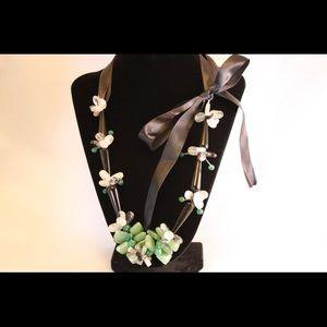 Gemstone, onyx, jade and rose quartz.